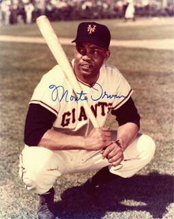 MONTE IRVIN - AUTOGRAPHED SIGNED PHOTOGRAPH