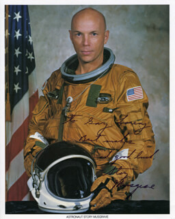 STORY MUSGRAVE - INSCRIBED PRINTED PHOTOGRAPH SIGNED IN INK