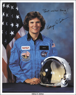 CAPTAIN KATHRYN D. SULLIVAN - AUTOGRAPHED INSCRIBED PHOTOGRAPH