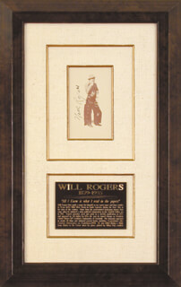 WILL ROGERS SR. - BOOK PHOTOGRAPH SIGNED