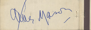 JAMES MASON - MATCH BOOK SIGNED CIRCA 1971