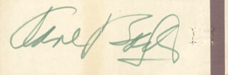 Autographs: ANNE BAXTER - MATCH BOOK SIGNED CIRCA 1971