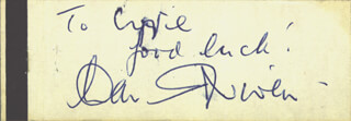 DAVID NIVEN - AUTOGRAPH NOTE SIGNED