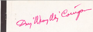 DOUGLAS WRONG WAY CORRIGAN - MATCH BOOK SIGNED CIRCA 1965