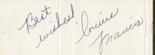 CONNIE FRANCIS - MATCH BOOK SIGNED