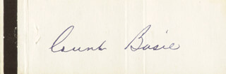 COUNT BASIE - MATCH BOOK SIGNED