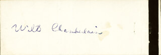 Autographs: WILT THE STILT CHAMBERLAIN - MATCH BOOK SIGNED