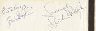 GORDON MacRAE - MATCH BOOK SIGNED CO-SIGNED BY: SHEILA MacRAE