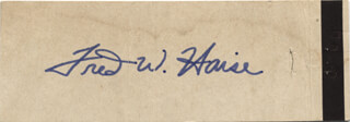FRED W. HAISE JR. - MATCH BOOK SIGNED CIRCA 1970