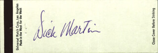 ROWAN & MARTIN (DICK MARTIN) - MATCH BOOK SIGNED