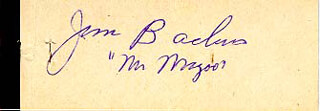 JIM BACKUS - MATCH BOOK SIGNED