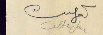 Autographs: XAVIER CUGAT - MATCH BOOK SIGNED CO-SIGNED BY: ABBE LANE