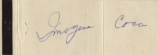 IMOGENE COCA - MATCH BOOK SIGNED CIRCA 1968