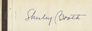 SHIRLEY BOOTH - MATCH BOOK SIGNED CIRCA 1965