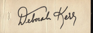 DEBORAH KERR - MATCH BOOK SIGNED 01/16/1969