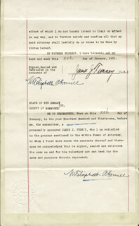 GENE TUNNEY - DOCUMENT SIGNED 01/22/1931