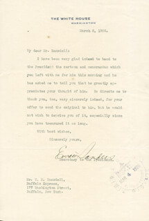 EVERETT SANDERS - TYPED LETTER SIGNED 03/02/1926