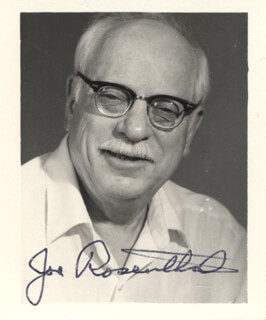 JOE ROSENTHAL - AUTOGRAPHED SIGNED PHOTOGRAPH