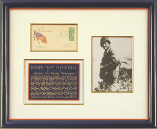 JOE ROSENTHAL - COMMEMORATIVE ENVELOPE SIGNED