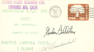 COLONEL C. GORDON FULLERTON - COMMEMORATIVE ENVELOPE SIGNED CO-SIGNED BY: TED MENDENHALL