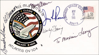 COLONEL BRYAN O'CONNOR - INSCRIBED ENVELOPE SIGNED 11/26/1985 CO-SIGNED BY: COLONEL JERRY L. ROSS, COLONEL BREWSTER H. SHAW, COLONEL SHERWOOD C. WOODY SPRING, MARY L. CLEAVE