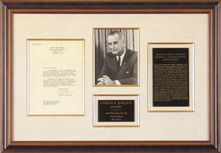 PRESIDENT LYNDON B. JOHNSON - TYPED LETTER SIGNED 02/04/1955