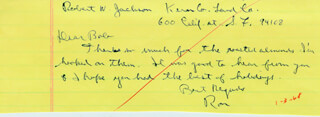 PRESIDENT RONALD REAGAN - AUTOGRAPH LETTER SIGNED CIRCA 1968
