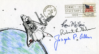 RONALD E. McNAIR - COMMEMORATIVE ENVELOPE SIGNED CO-SIGNED BY: CAPTAIN ROBERT L. HOOT GIBSON, JOSEPH P. ALLEN