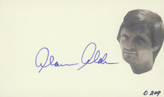 Autographs: ALAN ALDA - SIGNATURE(S)