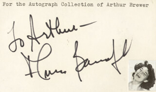 ANNE BANCROFT - INSCRIBED CARD SIGNED