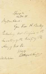 PRESIDENT RUTHERFORD B. HAYES - AUTOGRAPH LETTER SIGNED 12/12/1891