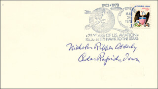 NICHOLAS R. ABBERLY - COMMEMORATIVE ENVELOPE SIGNED