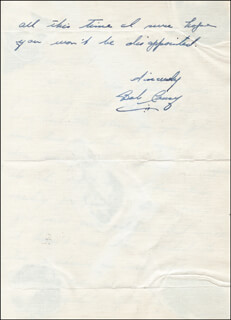 BOB COUSY - AUTOGRAPH LETTER SIGNED  - HFSID 51969