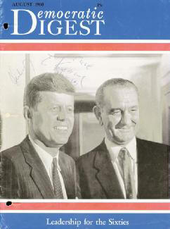 PRESIDENT JOHN F. KENNEDY - MAGAZINE COVER SIGNED CO-SIGNED BY: EUNICE KENNEDY SHRIVER