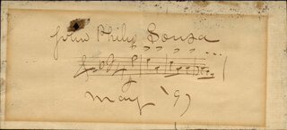 JOHN PHILIP THE MARCH KING SOUSA - AUTOGRAPH MUSICAL QUOTATION SIGNED 05/1897