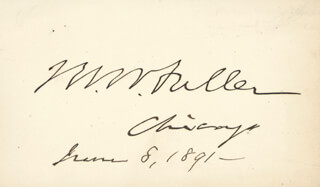 Autographs: CHIEF JUSTICE MELVILLE W. FULLER - SIGNATURE(S) 06/08/1891