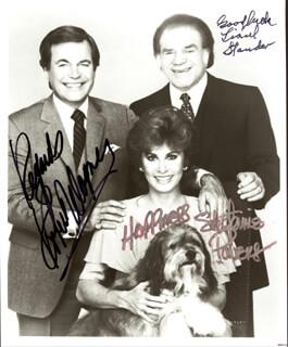 HART TO HART TV CAST - AUTOGRAPHED SIGNED PHOTOGRAPH CO-SIGNED BY: STEFANIE POWERS, ROBERT J. WAGNER, LIONEL STANDER