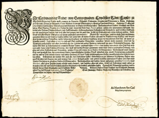 Autographs: EMPEROR FERDINAND II - DOCUMENT SIGNED 09/26/1625