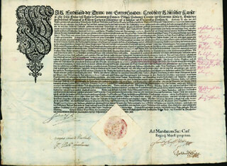 EMPEROR FERDINAND III - DOCUMENT SIGNED 04/20/1650