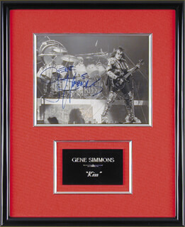 KISS (GENE SIMMONS) - AUTOGRAPHED SIGNED PHOTOGRAPH