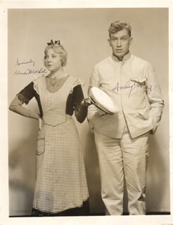 IMPATIENT MAIDEN MOVIE CAST - AUTOGRAPHED SIGNED PHOTOGRAPH CO-SIGNED BY: UNA MERKEL, ANDY DEVINE