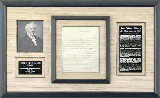 Autographs: PRESIDENT JAMES BUCHANAN - AUTOGRAPH LETTER SIGNED 01/12/1850