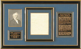 PRESIDENT JAMES BUCHANAN - AUTOGRAPH LETTER SIGNED 03/27/1838 CO-SIGNED BY: SAMUEL McKEAN
