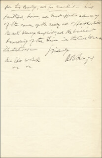 PRESIDENT RUTHERFORD B. HAYES - AUTOGRAPH LETTER SIGNED 04/27/1887