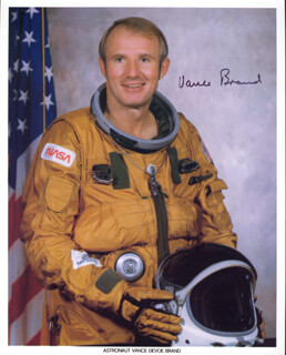 Autographs: VANCE BRAND - PRINTED PHOTOGRAPH SIGNED IN INK