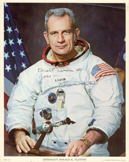MAJOR DONALD DEKE SLAYTON - AUTOGRAPHED INSCRIBED PHOTOGRAPH