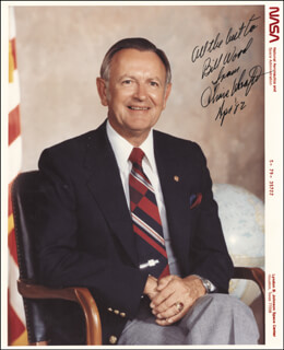 CHRIS KRAFT - AUTOGRAPHED INSCRIBED PHOTOGRAPH 4/1982