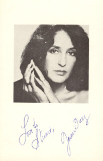 Autographs: JOAN BAEZ - INSCRIBED PHOTOGRAPH SIGNED