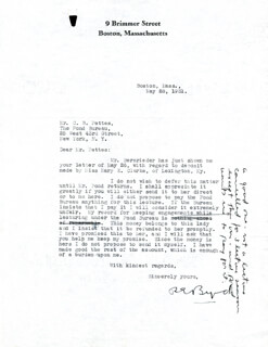 Autographs: REAR ADMIRAL RICHARD E. BYRD - TYPED LETTER SIGNED 05/28/1931