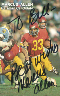 Autographs: MARCUS ALLEN - TRADING/SPORTS CARD SIGNED